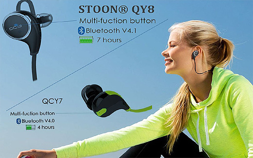 My Original New QCY QY8 Bluetooth 4.1 Headphone Wireless Sports Stereo Running
