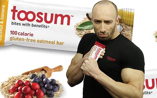 Say hello to Toosum – bites with benefits! Delicious 100-calorie snack bars!