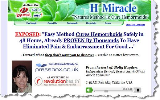 hemorrhoids cures