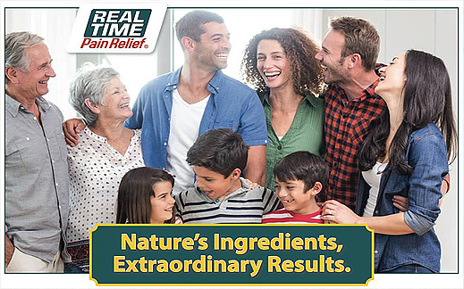 Real Time – Pain Relief! Nature's Ingredients Extraordinary Results.