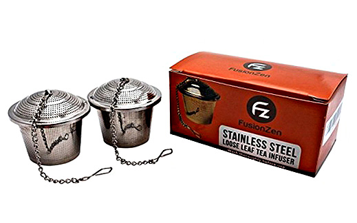 Loose Leaf Tea Strainer Steeper Infuser (Set of two). Food Grade Stainless Steel!