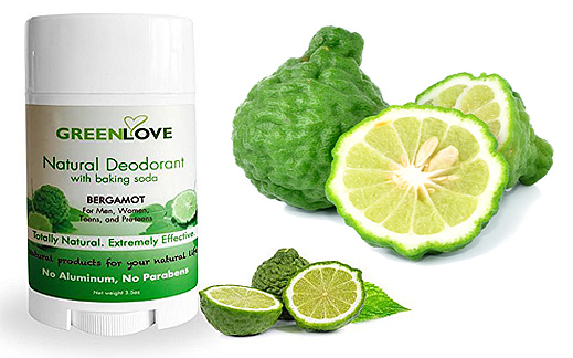 Natural Deodorant with Baking Soda bergamot
