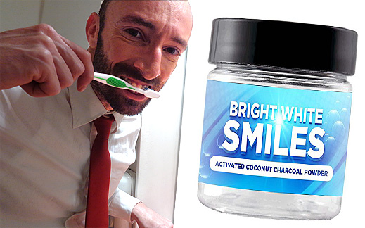 This is the new Bright White Smiles natural teeth whitening powder!