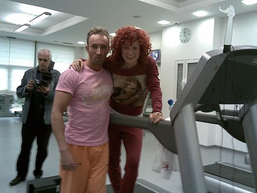 Фитнес Инструктор на Люси Дяковска в реклама на Rexona