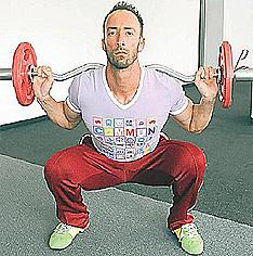Рецепта за Негърско дупе , Персонален фитнес инструктор, диета, Клек
