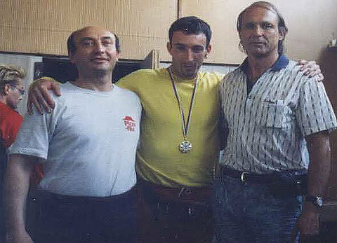 С моите фитнес треньори Митко Иванов и Андон Николов