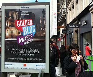 Golden Blog Awars Paris 2012