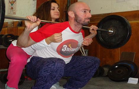Тренирова с фитнес инструктор