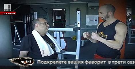 Как тренира във фитнеса известният български актьор Дидо Мачев (+видео)