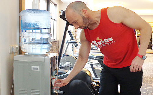 Вода по време на тренировка