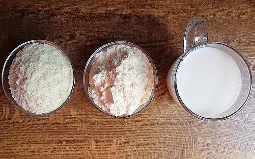 Рецепта за приготвяне на белтъчено пюре с картофи на люспи