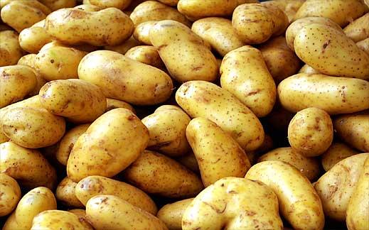 Картофи на картофено пюренце