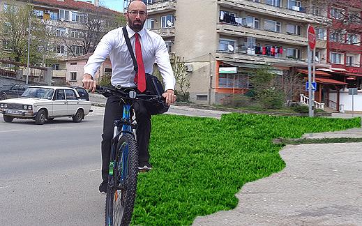 Да отслабнем с Велосипед градски на път за офиса