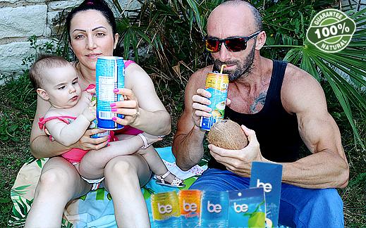 """Да утолим жаждата и повишим енергията си на макс с """"Be"""" 100% кокосова вода!"""