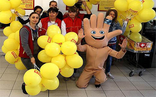"""Кампания на BILLA: Емоджи борса за обмяна на героите от филма """"Emoji"""""""