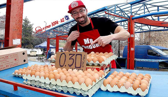 Хайде на пазара: Грабни 1 яйце за 30 секунди крос или кора яйца за 3 минути