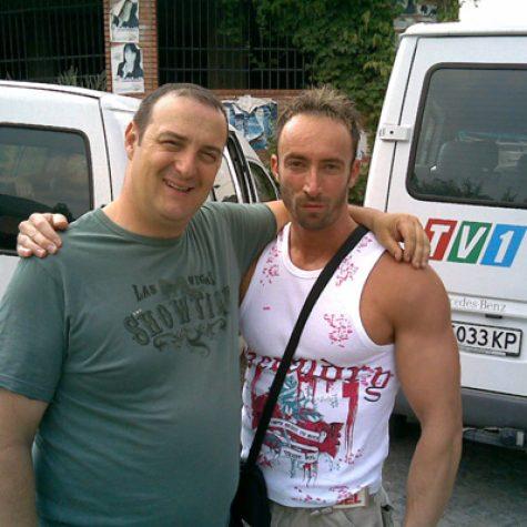 С Краси Радков на снимките на сериала Къде е батко