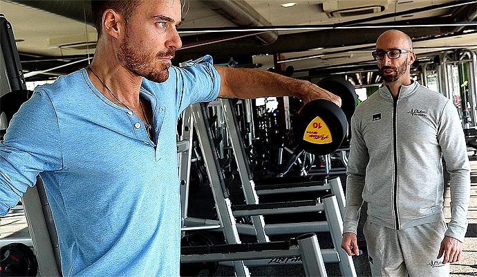Започнахме усилени тренировки за мускулна маса с актьора Ники Илиев за новия му филм