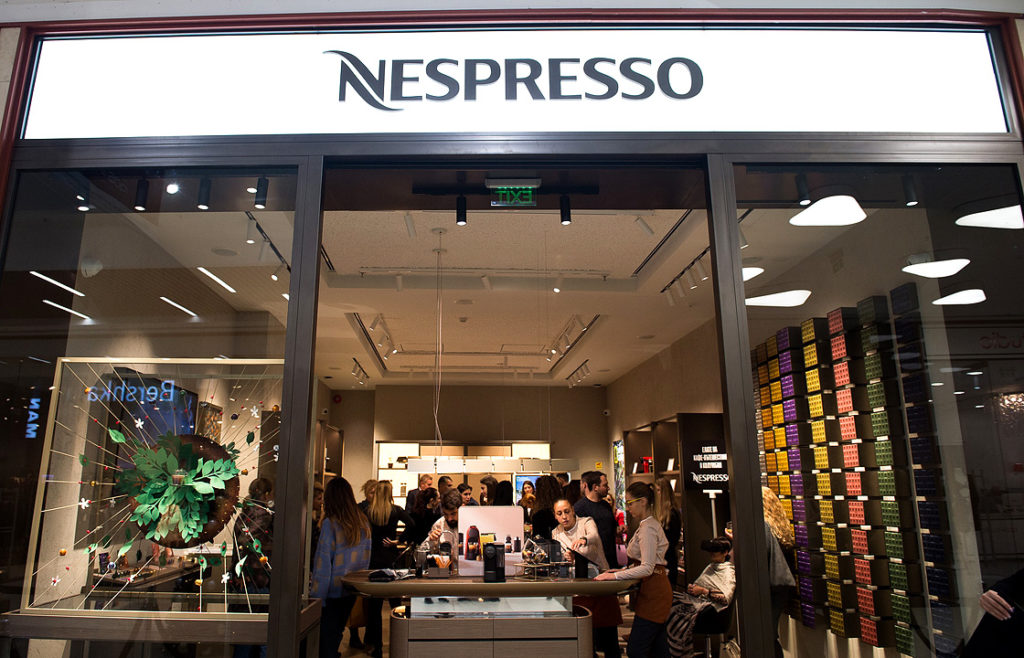 Nespresso бутик в МОЛ Paradise Center